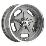 "AMERICAN LEGEND Racer Grey wheel - 18x9 with 5-1/4"" Backspace GM"
