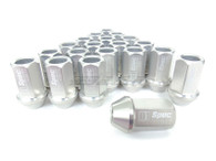 D1 SPEC Aluminium Wheel nut set (20pcs) - 36mm Long - SILVER M12 x 1.5