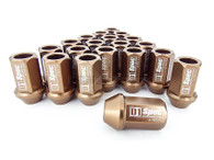 D1 SPEC Aluminium Wheel nut set (20pcs) - 36mm Long - BRONZE M12 x 1.5