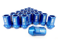 D1 SPEC Aluminium Wheel nut set (20pcs) - 36mm Long - BLUE M12 x 1.25