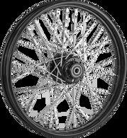 """ATTITUDE INC 40 Spoke Wire Wheel - Suits Harley - 16"""" x 5"""" - Black Rim/Hub"""