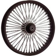 "ATTITUDE INC Black & Chrome Max Spoke Wheel - Suits Harley - 18"" x 3.5"" REAR"