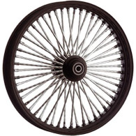 "ATTITUDE INC Black & Chrome Max Spoke Wheel - Suits Harley - 21"" x 3.5"" WITH ABS - 1"" Axle"