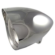 ATTITUDE INC Bullet Style Billet 5- 3/4' with Visor Round Tip Headlight - CHROME
