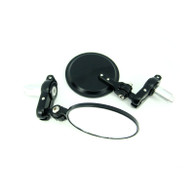 TLG Universal Swivel Bar-end Mirrors - Black