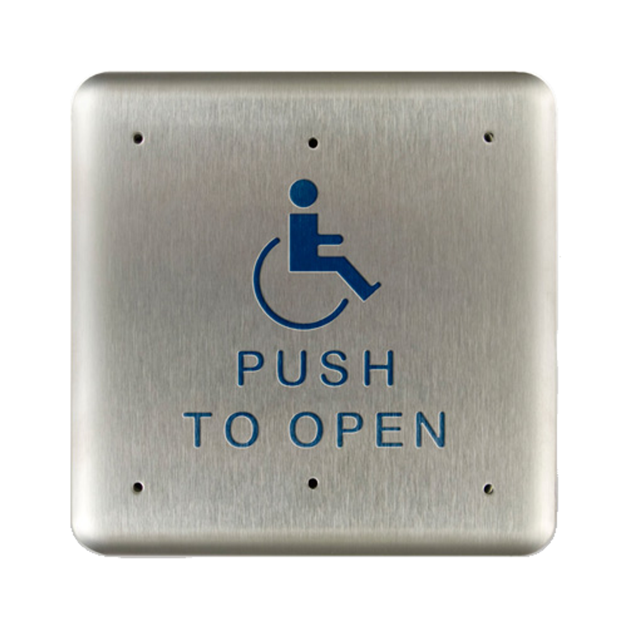 Bea 10pbs1 4 75 Quot Handicap Push To Open Square Push Plate