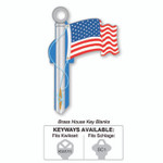 Lucky Lline American Flag B101 Key Shapes Key Blanks