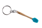 Core Home / Core Kitchen Blue Silicone Bamboo Mini Spatula Utensil Keychain