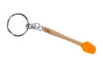 Core Home / Core Kitchen Orange Silicone Bamboo Mini Spatula Utensil Keychain