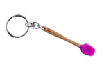 Core Home / Core Kitchen Pink Silicone Bamboo Mini Spatula Utensil Keychain