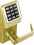 Alarm Lock DL2700-B-05 Trilogy T2 Push Button IC Core Lock Satin Brass