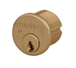 "1-1/4"" Medeco 10-0500-606 High Security Mortise Cylinder Satin Brass"