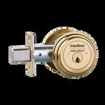 """Medeco M3 11TR603 2-3/8"""" Backset Maxum Residential Single Cylinder Deadbolt Bright Brass"""
