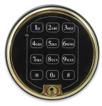 Sargent & Greenleaf 6120-211 Electronic Keypad Buffed Brass