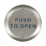 "Bea 10PBR45 4.5"" Push To Open Round Push Plate"