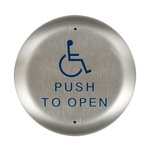 "Bea 10PBR451 4.5"" Handicap Push To Open Round Push Plate"