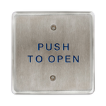 "Bea 10PBS45 4.5"" Push To Open Square Push Plate"