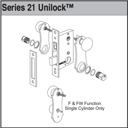 falcon 2090 series rim exit device further marks unilock 21ac mortise lock  for security door and