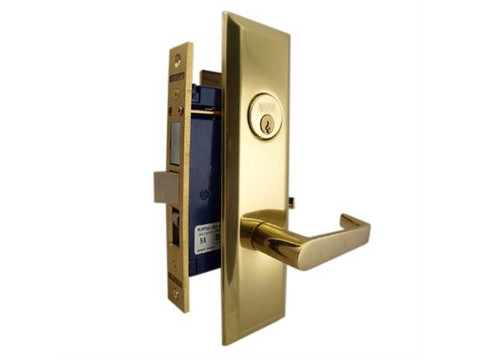 Marks 116A Entrance Metro Apartment Mortise Lockset Lever Handle Brass Front