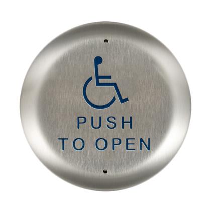 Bea 10pbr451 4 5 Quot Handicap Push To Open Round Push Plate