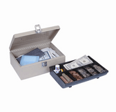 MMF Industries Cash Box With Locking Latch