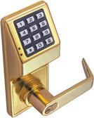 Alarm Lock DL2700-B-03 Trilogy T2 Push Button IC Core Lock Polished Brass