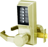 Kaba Access Simplex LR1021S-05-41 Right Hand Unican Pushbutton Lock Satin Brass Schlage Key Override