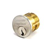 """Sargent 41 Series 41-RK-US3 1-1/8"""" Polished Brass Mortise Cylinder"""