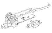 Adams Rite 1875-603-IB Two-Point Deadlock For Roll-Up Doors