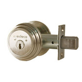 "Medeco M3 11TR503 2-3/8"" Backset Maxum Residential Single Cylinder Deadbolt Satin Nickel"