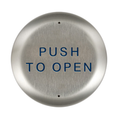 """Bea 10PBR45 4.5"""" Push To Open Round Push Plate"""