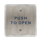 """Bea 10PBS45 4.5"""" Push To Open Square Push Plate"""