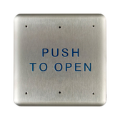 """Bea 10PBS 4.75"""" Push To Open Square Push Plate"""