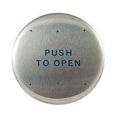 """Bea 10PBR 6"""" Push To Open Round Push Plate"""