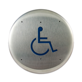 "Bea 10PBRLL 6"" Handicap Round Push Plate"