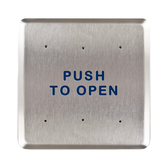 """Bea 10PBS6 6"""" Push To Open Square Push Plate"""