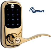 Yale Real Living YRL220-605ZW-KW Z-Wave Touchscreen Lever Lock