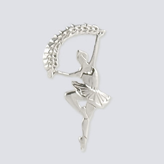 Dew Drop Fairy Charm - Nutcracker Dance Jewelry Silver