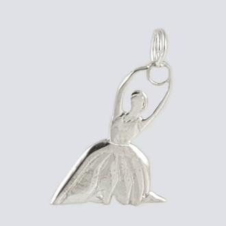 Flower Charm - Nutcracker Dance Jewelry Silver
