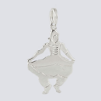 Mother Ginger Girl Charm - Nutcracker Dance Jewelry Silver