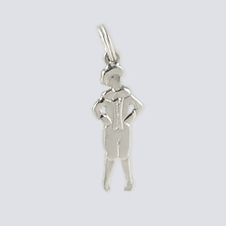 Mother Ginger Boy Charm - Nutcracker Dance Jewelry Silver