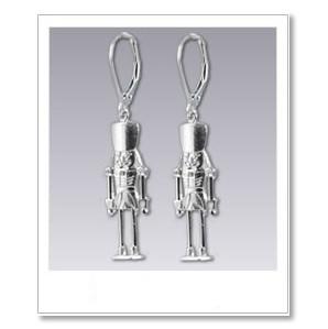 Nutcracker Earrings - Silver
