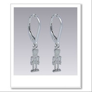 Petit Nutcracker Earrings - Silver