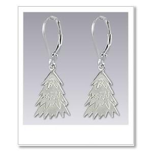 Tree Earrings - Silver