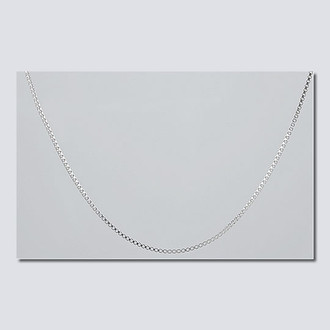 """16"""" Silver Box Chain Necklace"""