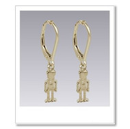 Petit Nutcracker Earrings - Gold