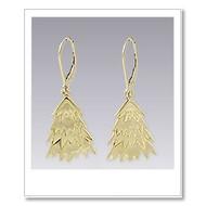 Tree Earrings - Gold