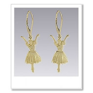 Snowflake Earrings - Gold
