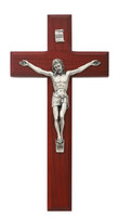 "(81-13) 8"" BEVELED CHERRY CRUCIFIX"
