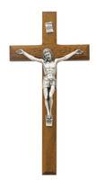 "(81-14) 8"" BEVELED WALNUT CRUCIFIX"
